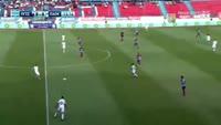 Spyros Risvanis scores own goal in the match Panionios vs PAOK