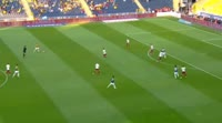 Moussa Sow scores in the match Fenerbahce vs Trabzonspor