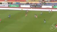 Jordan Mvula Lotomba scores own goal in the match Lausanne vs Lugano