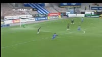 Vincent Onovo scores in the match HJK vs SJK