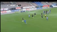 Ville Jalasto scores in the match HJK vs SJK