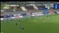 Moshtagh Yaghoubi scores in the match HJK vs SJK
