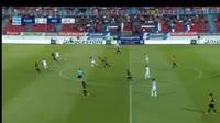 Georgios Masouras scores in the match Panionios vs AEK