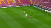 Andre Castro scores in the match Galatasaray vs Kasimpasa