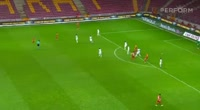 Wesley Sneijder scores in the match Galatasaray vs Kasimpasa