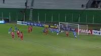 Blas Perez scores in the match Blooming vs Guabira