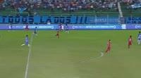 Gualberto Mojica scores in the match Blooming vs Guabira