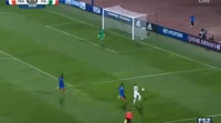 Giuseppe Panico scores in the match France U20 vs Italy U20
