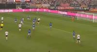 Sandro Wagner scores in the match Germany vs San Marino