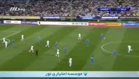 Sardar Azmoun scores in the match Iran vs Uzbekistan