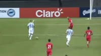 Leandro Paredes scores in the match Singapore vs Argentina