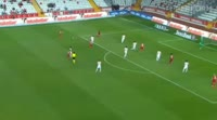 Jean Armel Drole scores in the match Antalyaspor vs Gaziantepspor