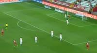 Serkan Bakan scores in the match Antalyaspor vs Gaziantepspor