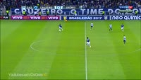 Rafael Sobis scores in the match Cruzeiro vs Gremio