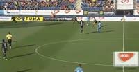 Robert Matejov scores own goal in the match Zlin vs Slovan Bratislava