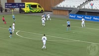 Gunnar Vatnhamar scores in the match Vikingur vs Trepca 89