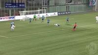 Fiton Hajdari scores in the match Vikingur vs Trepca 89