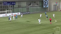 Adeshina Lawal scores in the match Vikingur vs Trepca 89
