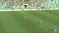 Xhejahir Sukaj scores in the match Partizani vs Botev Plovdiv