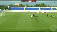 Marjan Radeski scores in the match Shkendija Tetovo vs Dacia Chisinau
