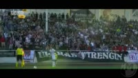 Giorgi Beridze scores in the match Trencin vs Torpedo Kutaisi