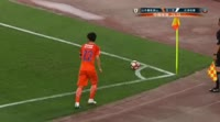 Songyi Li scores in the match Shandong Luneng vs Tianjin Quanjian