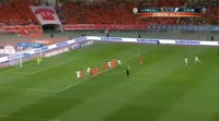 Axel Witsel scores in the match Shandong Luneng vs Tianjin Quanjian