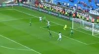 Hugo Rodallega scores in the match Trabzonspor vs Bursaspor