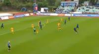 Hakon Skogseid scores in the match Stabaek vs Lillestrom