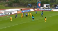 Erling Knudtzon scores in the match Stabaek vs Lillestrom