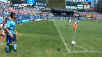 Maxime Chanot scores in the match New York City vs Philadelphia Union