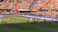 Joel Veltman scores in the match Netherlands vs Ivory Coast