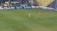 Rodrigo Cabalucci scores in the match Olimpo Bahia Blanca vs Huracan