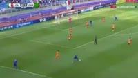 Riccardo Orsolini scores in the match Italy U20 vs Zambia U20