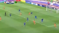 Fashion Sakala scores in the match Italy U20 vs Zambia U20