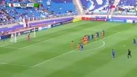 Federico Dimarco scores in the match Italy U20 vs Zambia U20