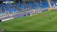 Luca Vido scores in the match Italy U20 vs Zambia U20