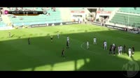 Deniss Tjapkin scores in the match Kalju vs B36 Torshavn