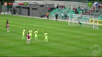 Mick van Buren scores in the match Slavia Prague vs Zilina