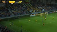 Aleksey Rios scores in the match BATE vs Alashkert