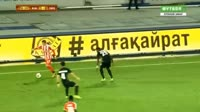 Gerard Gohou scores in the match K. Almaty vs Skenderbeu Korca