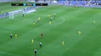 Palmi Rafn Palmason scores in the match Maccabi Tel Aviv vs KR Reykjavik
