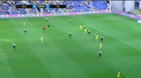 Aaron Schoenfeld scores in the match Maccabi Tel Aviv vs KR Reykjavik