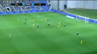Vidar Orn Kjartansson scores in the match Maccabi Tel Aviv vs KR Reykjavik
