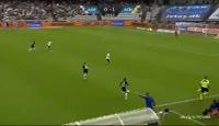 Joseph Mensah scores in the match Aarhus vs Horsens
