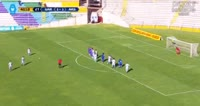 Alfredo Ramua scores in the match Garcilaso vs Alianza Atl.