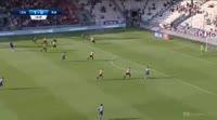 Gerard Badia scores in the match Cracovia vs Piast Gliwice