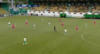 Cosmin Birnoi scores in the match Concordia vs Poli Timisoara