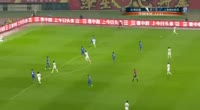 Xuri Zhao scores in the match Tianjin Quanjian vs Shanghai Shenhua
