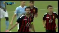Boban Grncarov scores in the match Vardar vs Malmo FF